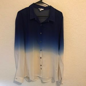 Volcom Ombré Blue and White Button Down